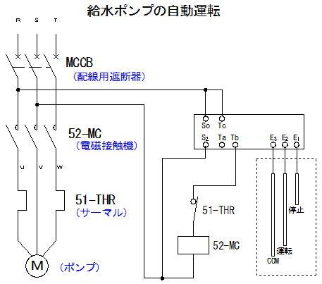 給水ポンプの自動運転回路