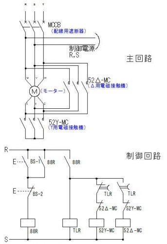 スターデルタ(Y-Δ)始動のシーケンス