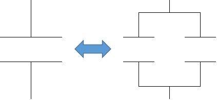コンデンサーの分割