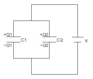 コンデンサの並列接続