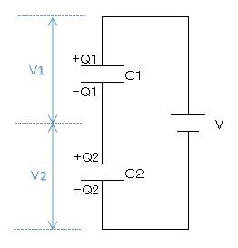 コンデンサーの直列接続