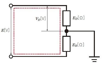 地絡時の金属製外箱の対地電圧