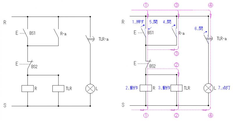 オフディレータイマーを使ったシーケンスの基本回路