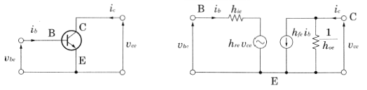 エミッタ接地増幅回路の交流等価回路
