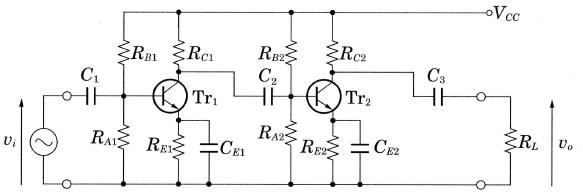 RC結合増幅回路