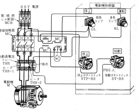 モーターの始動制御回路