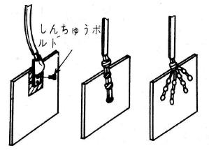 アース板の接続の状況