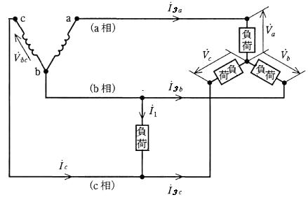 異容量V結線の遅れ接続