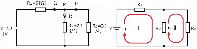キルヒホッフの法則 ループ電流法