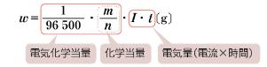 ファラデーの第一法則の公式